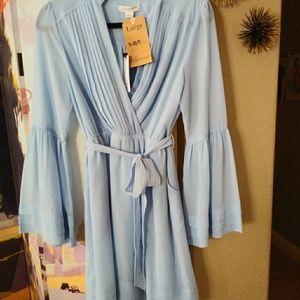 Flirty light blue cocktail/summer party dress